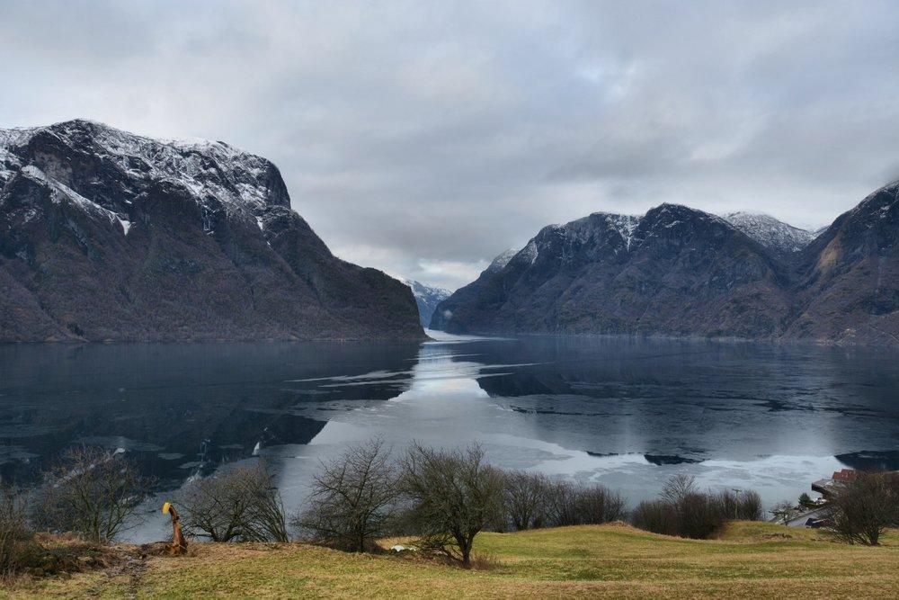 Winter mood Aurlandsfjord