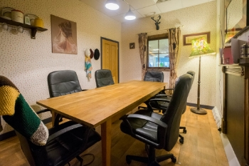 Grandma's House  6 Person space, TV screen,   whiteboard, wifi, tea&coffee.    £25 an hour, £125 a day