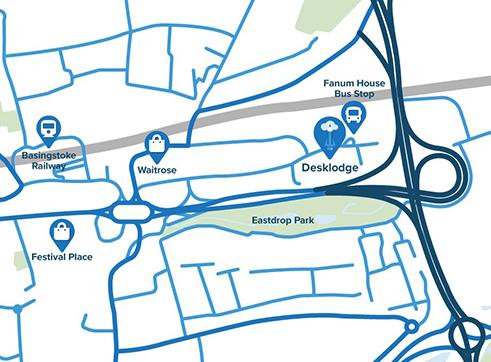 DeskLodge, Belvedere House, Basing View, Basingstoke, RG21 4HG    T:    01256 838 256    E:    basingstoke@desklodge.com