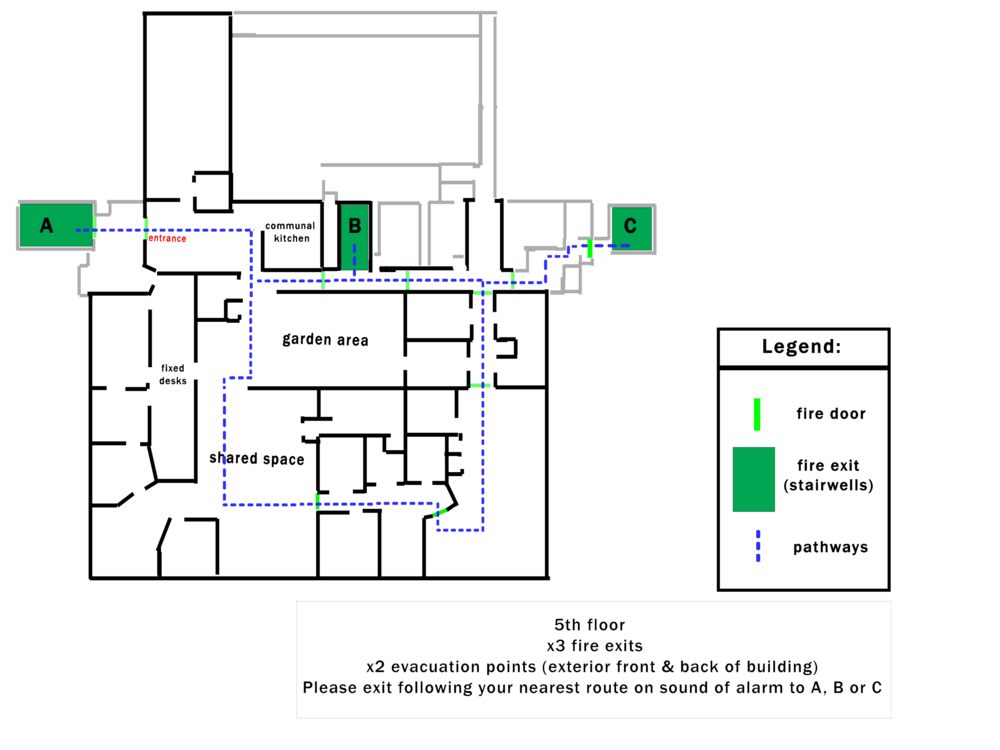 5th Floor - Blank floor plan - routes & exits.png