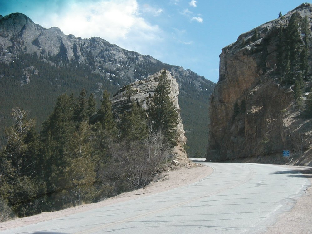 Canyon drive in the Rockies