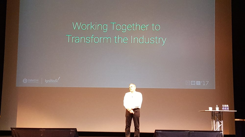 Chief Strategy Officer Don Pearson addresses the attendees during the keynote.