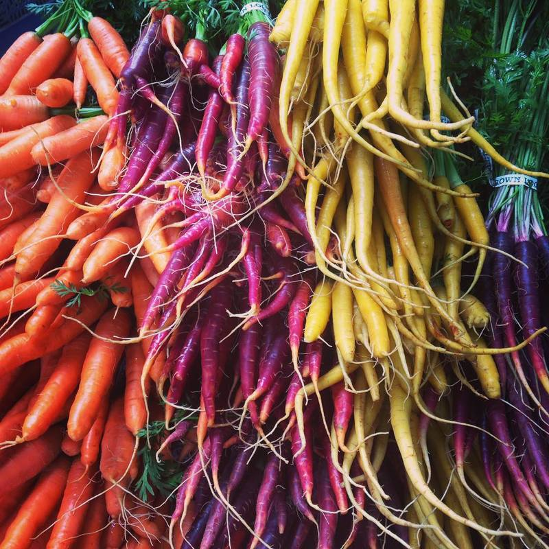 Carrots at Shemanski Market; photo credit: @adenoble