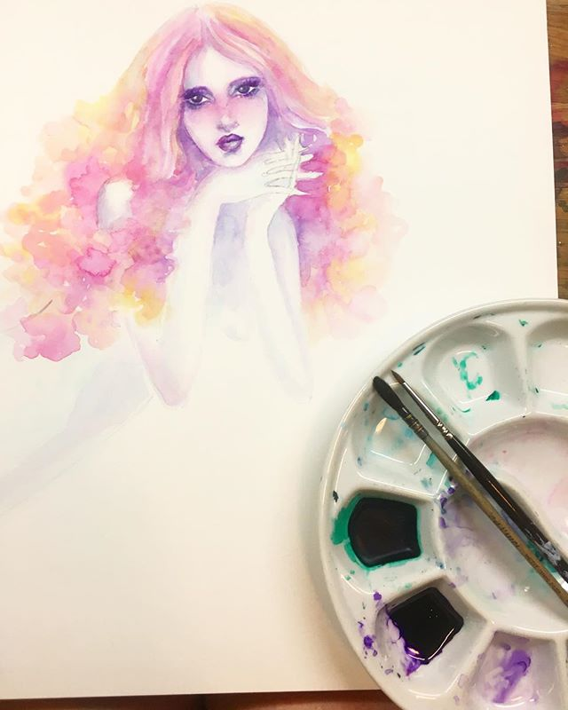 #wip #workinprogress #mermaid #mermaidart #mermaidillustration #mermaidhair  #mermaid#art #artistsoninstagram #artwork # #instaart #illustration #illustrationartists #illustrationart #watercolor #watercolorart #etsy #etsyartist