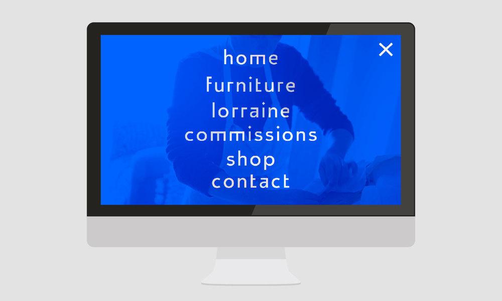 menu page for lorraine osbourne design
