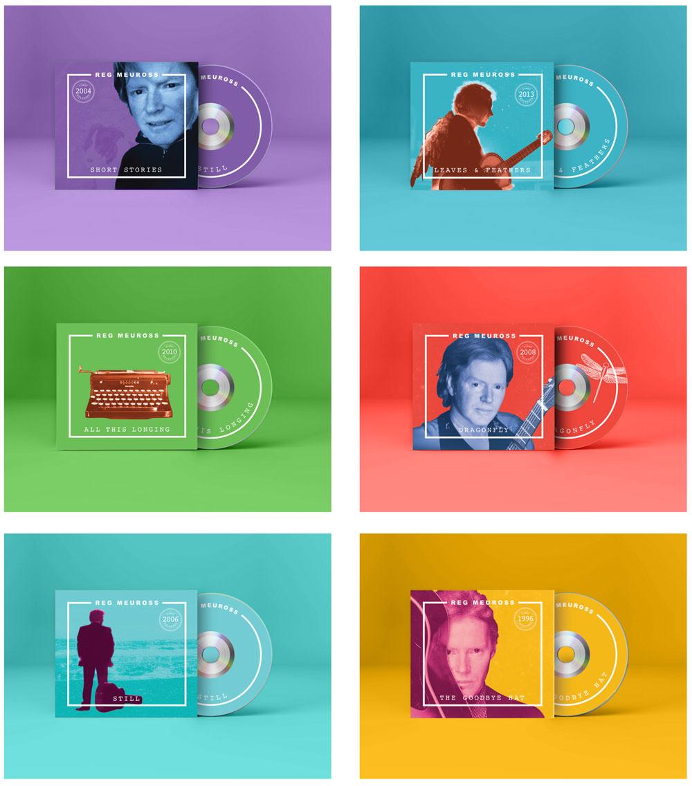 cd and vinyl graphic design for reg meuross