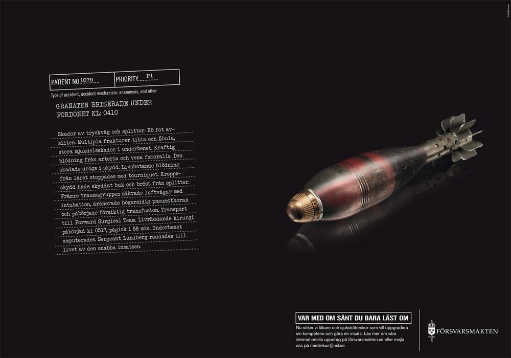 Kund: Försvarsmakten Dåvarande byrå: Frank&Earnest