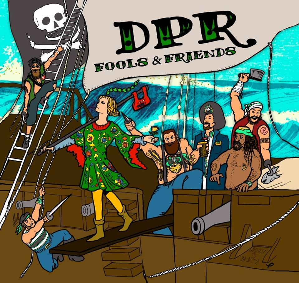 "DPR's ""Fools and Friends"" - Album Art designed by: Joe Smith. Album Design: Matt Penza. Engineered and Produced By: Dave Pine at Pinetrax Recording."