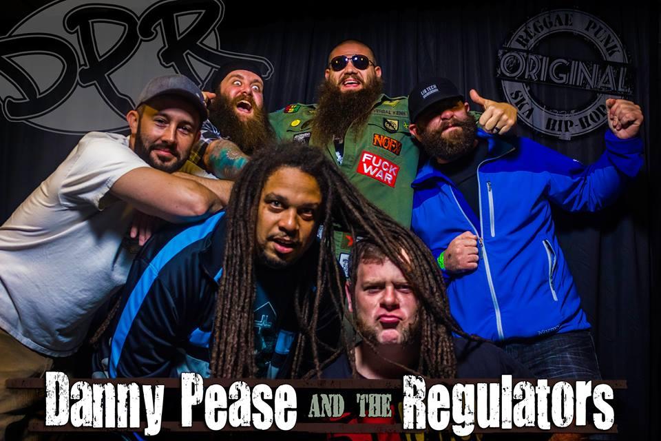 "Clockwise from left:Dan Pease (rhythm guitar), Jake Curran (bass), Kenn Kosiba (vocals), Jeff Katz (lead guitar), Joe Grenier (drums & percussion), Luis ""Phaze"" Perez (vocals)"