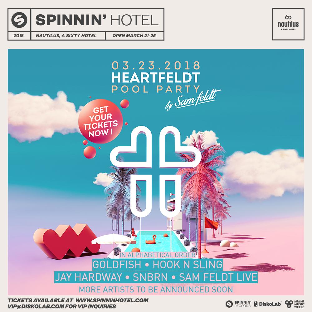 Heartfeldt Pool Party at Spinnin' Hotel   Miami 2018 - Miami, FL