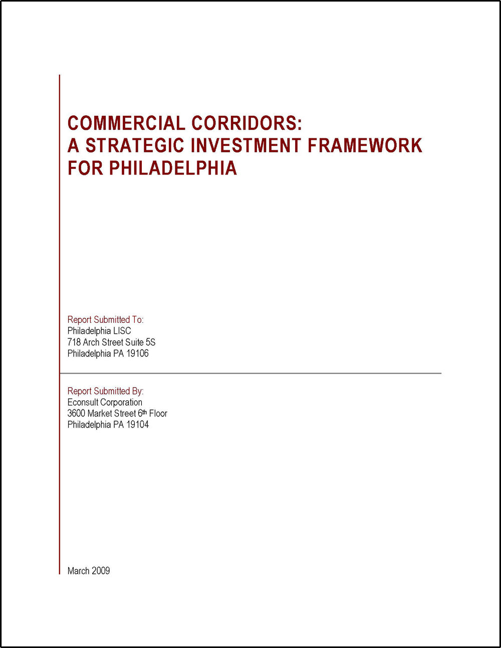 Commercial Corridors: A Strategic Investment Framework for Philadelphia (Collaborative Publication)