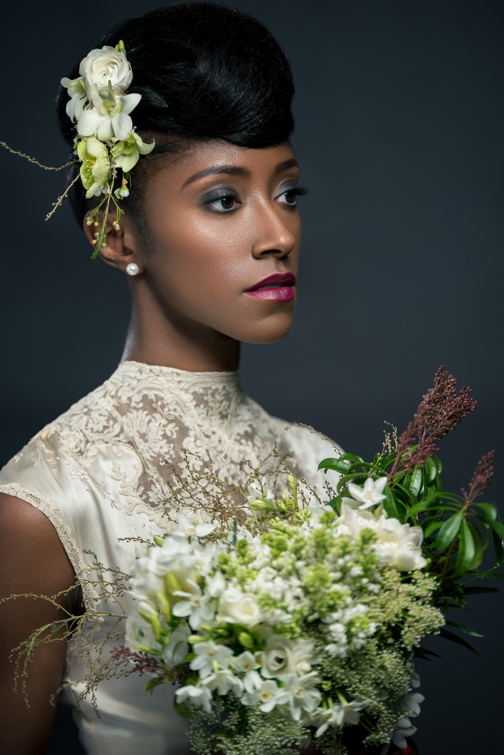 Photo:  Chris Langford  | Hair+Makeup: Rachel Lane | Model:  Kandace Banks  | Florals:  Taffy Floral  | Dress:  Gypsy De La Lune
