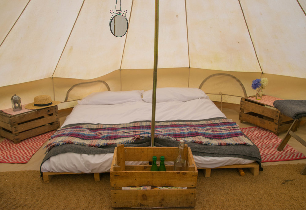 Our bell tent at Ballyvalone House