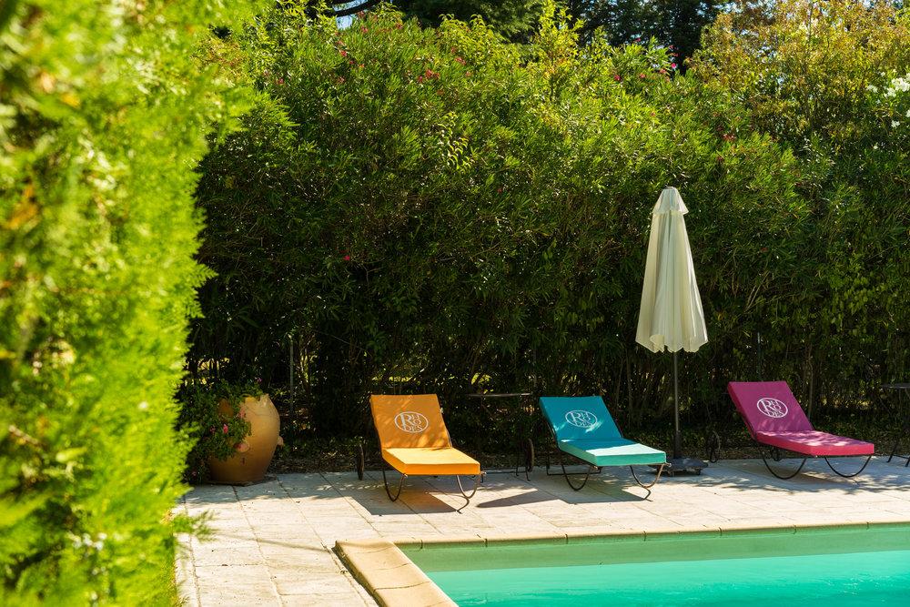 The pool at Domaine de Rhodes