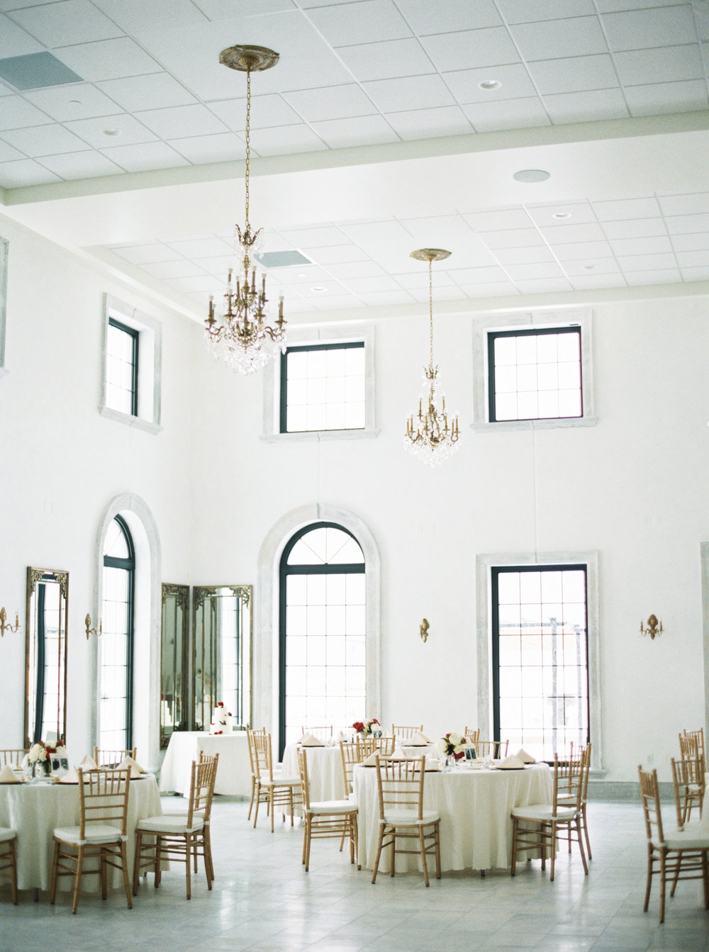 For a indoor, elegant wedding; Chateau is the place to be. It has plenty of indoor space, AMAZING food and great staff. I especially love the old school band performing smooth covers of Frank Sinatra, Dean Martin and other oldies favorites. Tons of natural indoor light with a french theme, plenty of parking and a outdoor patio space. http://chateaueagle.com/