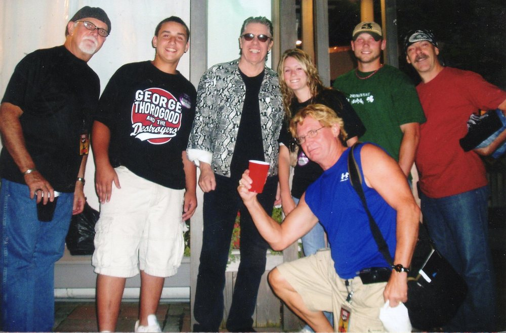 George Thorogood, Buddy Leach, Billy Blough & Jeff Simon with Alex Cocorochio, Alyssa Cocorochio Dombrowski & Mike Dombrowski
