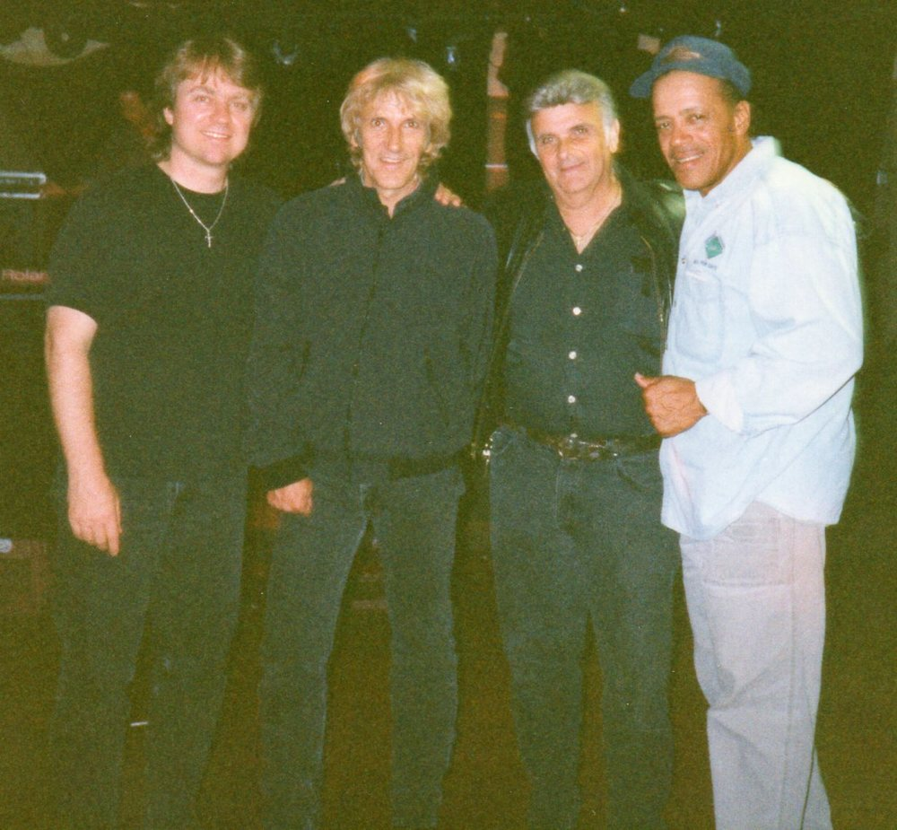 "John Cafferty (Beaver Brown Band) & Michael ""Tunes"" Antunes & Tom Hambridge"