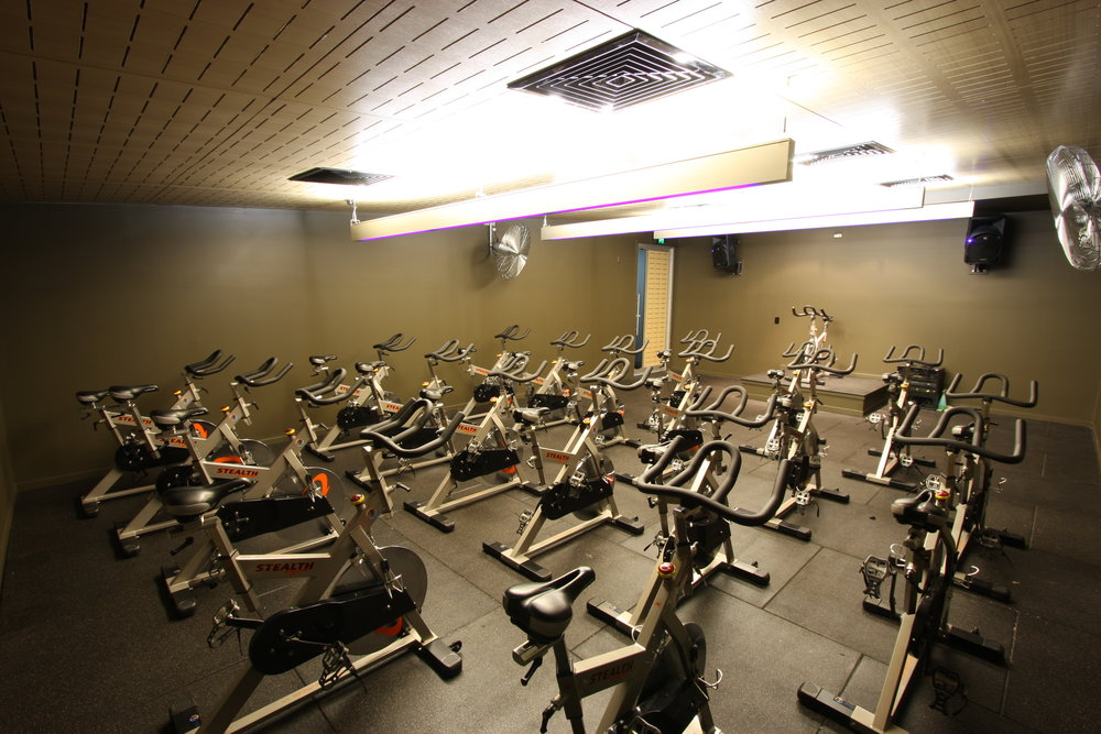 Cycle Studio - The cycle studio is great for those fast and high intensitiy workouts