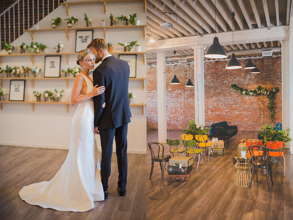 The Unique Place in Los Angeles Editorial Wedding Photo