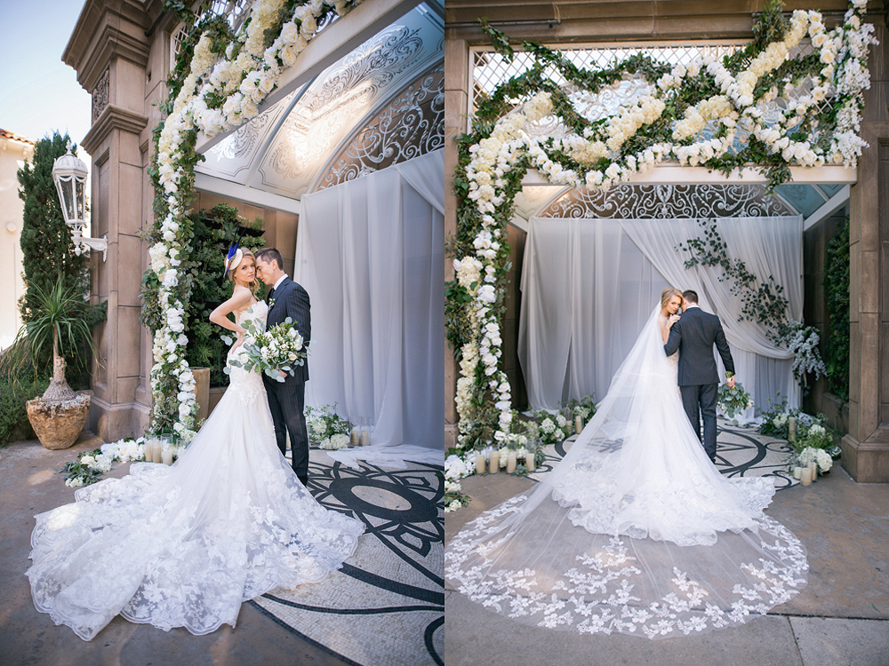 The Huntley Hotel in Santa Monica Editorial Wedding Photo