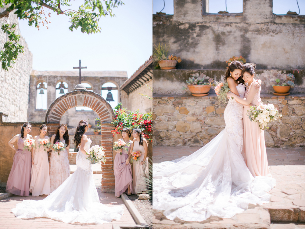Serra Plaza in San Juan Capistrano Wedding Photo