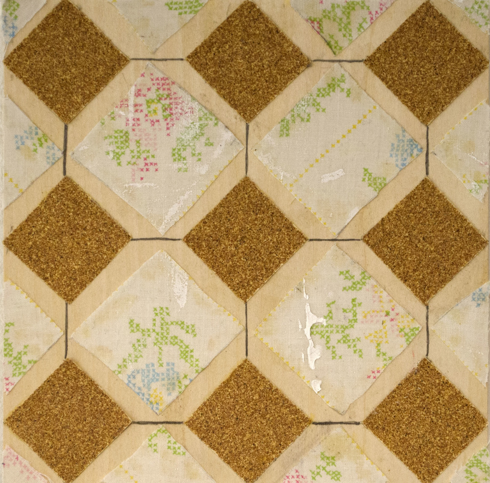 Sandpaper and Bedsheet/Dropcloth Tile