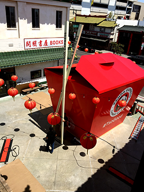 PANDA EXPRESS USES THE PLAZA FOR A SPECIAL POP UP EVENT.