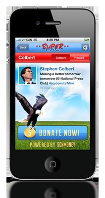 Checking in Via Foursquare, Donation request