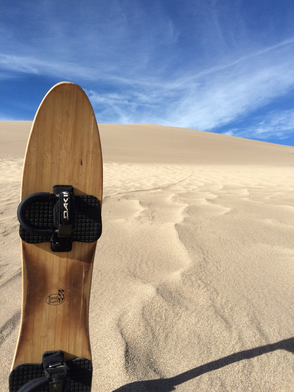 State of the art sand board in its natural environment.