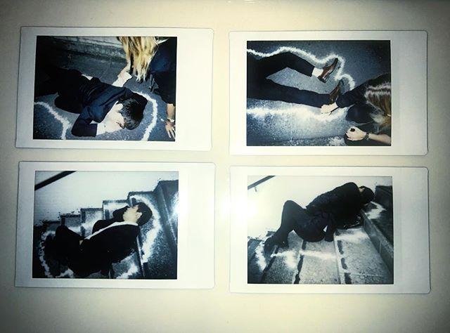 mailing out some @indiegogo 👌🏽🙏🏼 . . . . . photos by director @allegrapacheco  #indiegogo #perks  #salaryman #salarymanfilm #indie #womeninfilm #polaroid #analogue