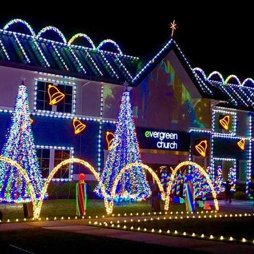 evergreen christmas lights set up 2018 volunteer day 2