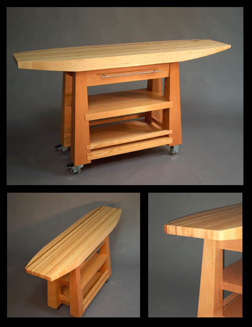 Surfboard Kitchen Island