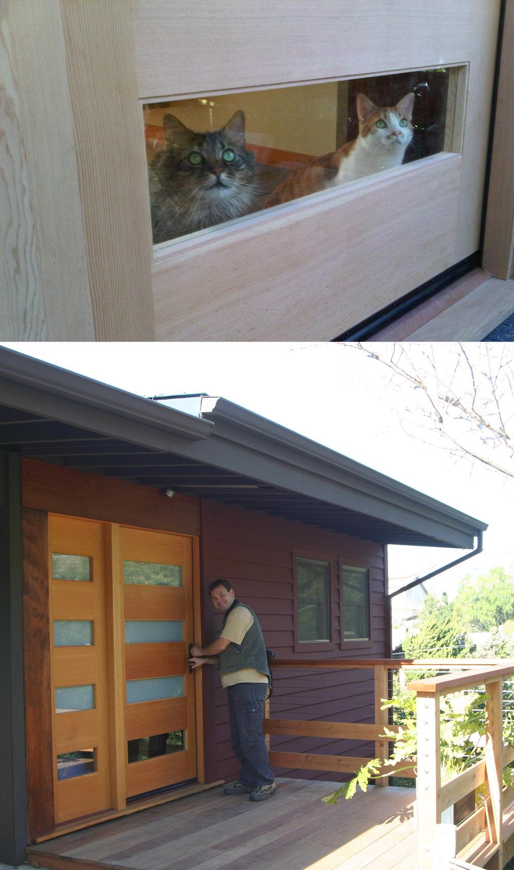 Modern Door with Cat Window