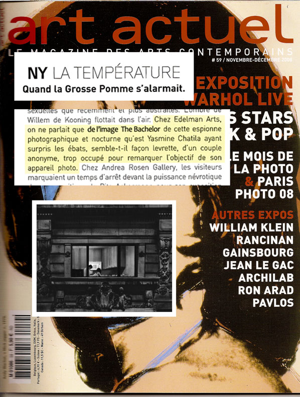 Art Actuel Magazine (Paris), November 2008