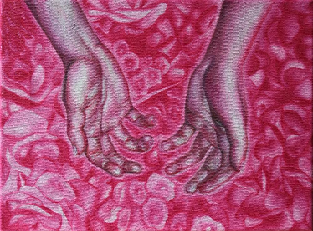 "Alyssa Kaboskey, In Bloom, oil on canvas, 16"" x 12"""