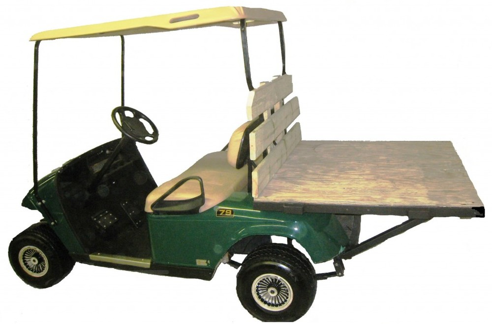electric utility truck with bed
