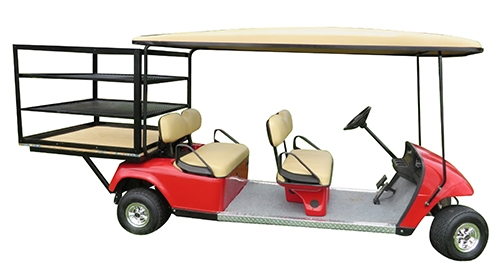 electric cart with rack