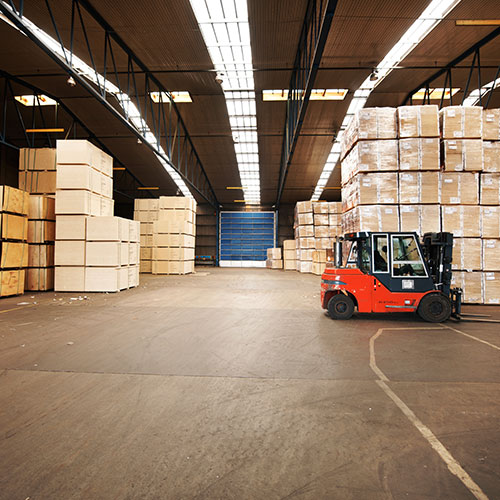 warehouse service truck