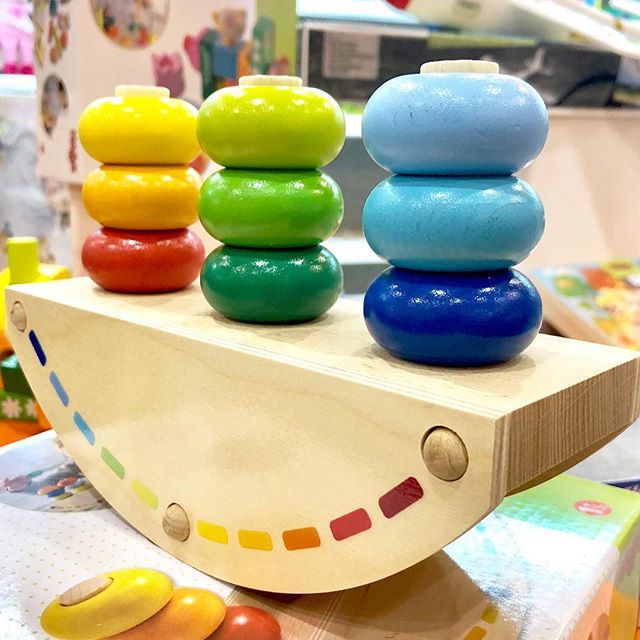 Beautiful toys like this colorful, wooden, balancing stacker from @habausa are toys that engage your Little Pnuts and encourage them to learn through play! This beauty will be arriving this Fall!  Little Pnuts Toy Shoppe 209 Harrison Ave • Lakeview 504.267.5083  #PlayMatters #LearningThroughPlay #HappyLearning #JustPlay #ImagineCreatePlay #HABA #WoodenToys #Colorful #Rainbow #BalancingToy #StackingToy #BirthdayGifts #PartySupplies #Toys #CuddlyFriends #Dolls #Games #Books #STEM #CreativeActivities #CraftKits #PartyGames #TravelBoxes #CustomPlayBoxes #Balloons