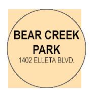 Bear Creek  Activity Calendar