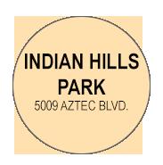 I ndian Hills Park  Activity Calendar