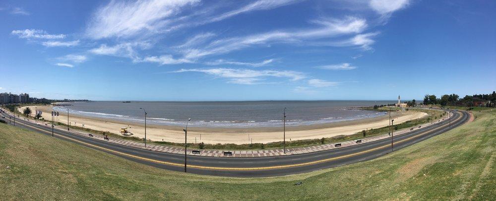 Panorama of Playa del Buceo © 2017 Ekaterina Selezneva