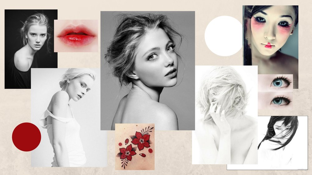 Moodboard for the shoot (found images)