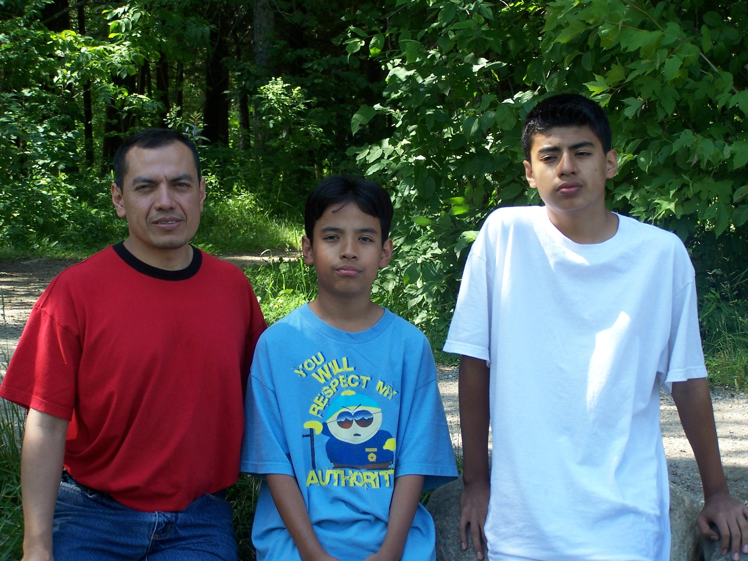 My father, my brother and I.