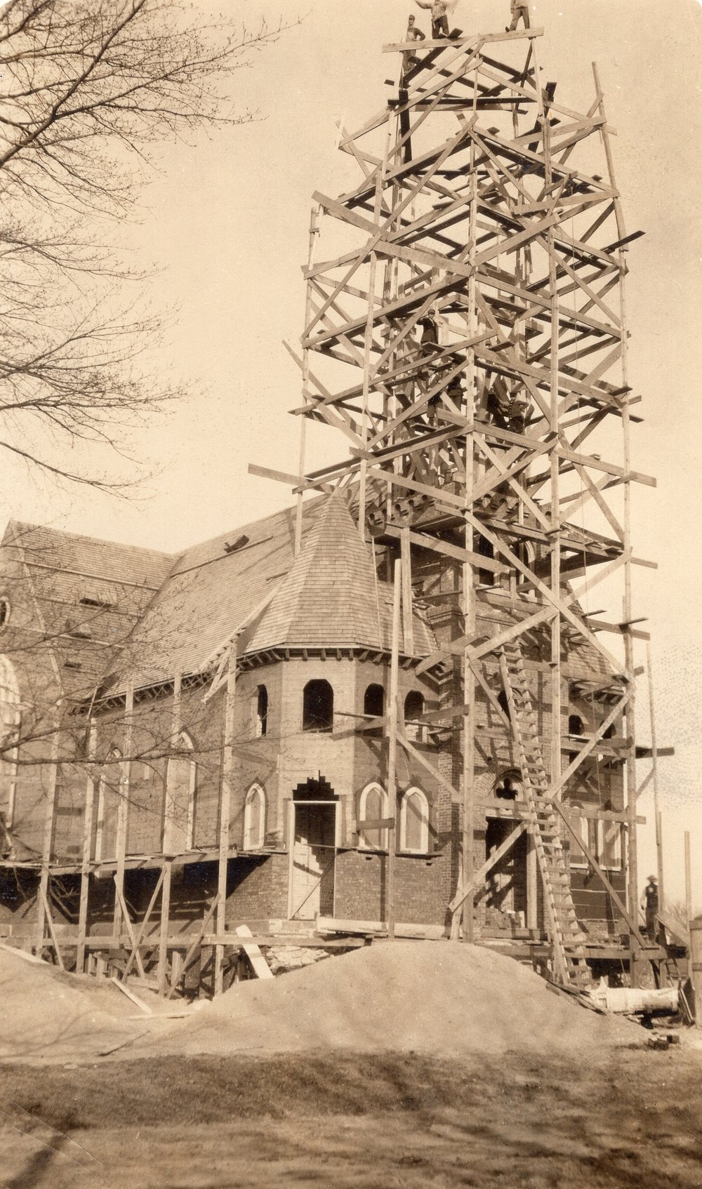 A new church was built on Madison Street in 1913