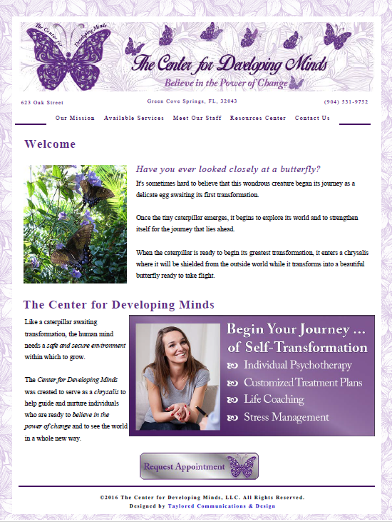 The Center for Developing Minds: New Website Design