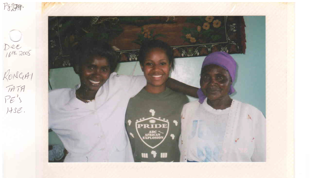 Three generations of strong women:  Grandma Rose (right) w/ Dtr. Merioth (left) & Gr. Dtr. Hilda (center)