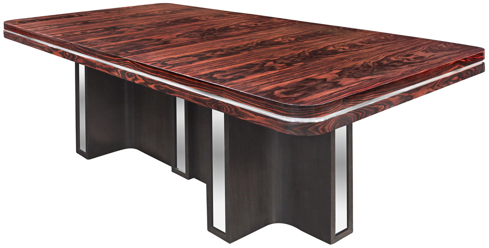 Parzinger 350 Macassr+chrome diningtable148 hires.jpg