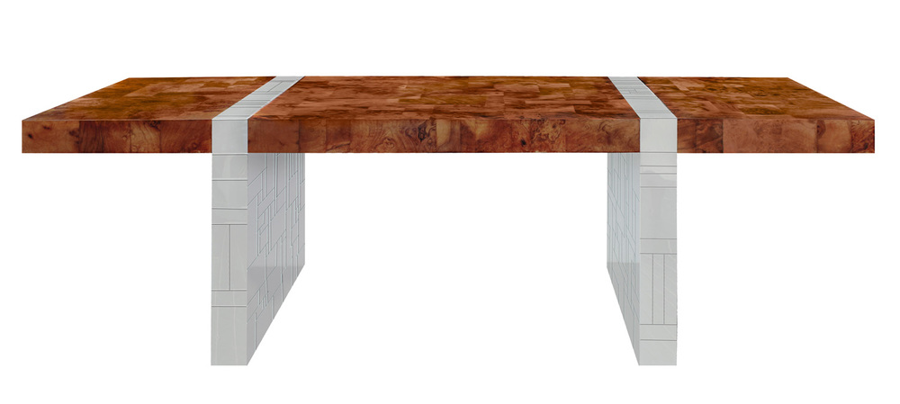 Evans 250 PE411 burl+chrome legs diningtable149 detail1 hiresA_1.jpg