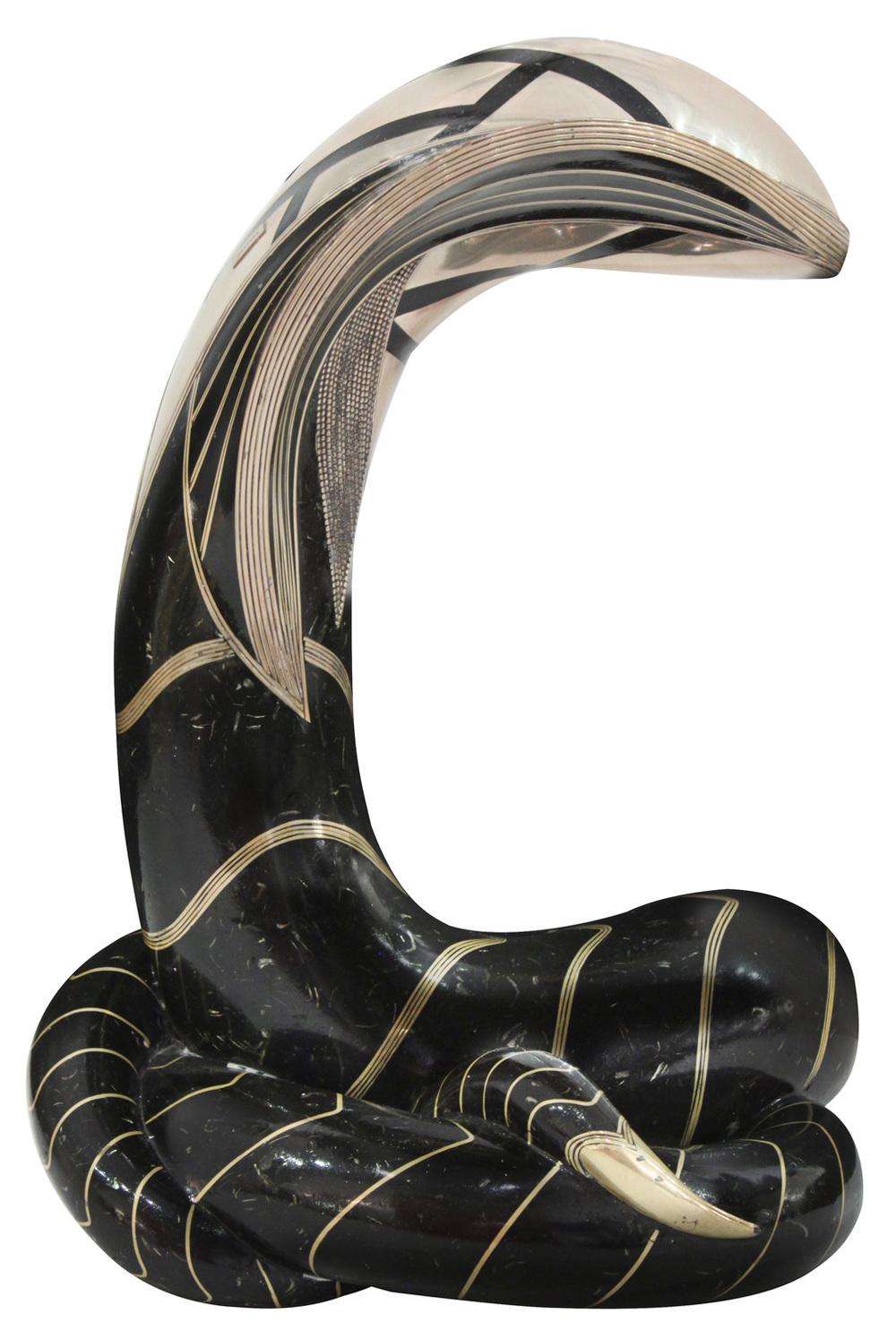 Estevesz 250 Cobra bronze+silver sculpture95 detail2 hires.jpg